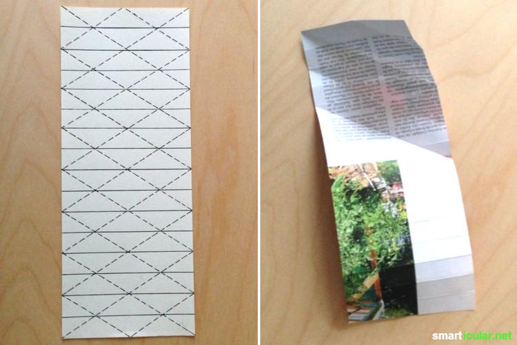 So faltest du ganz leicht Tannenbaumschmuck aus Altpapier.