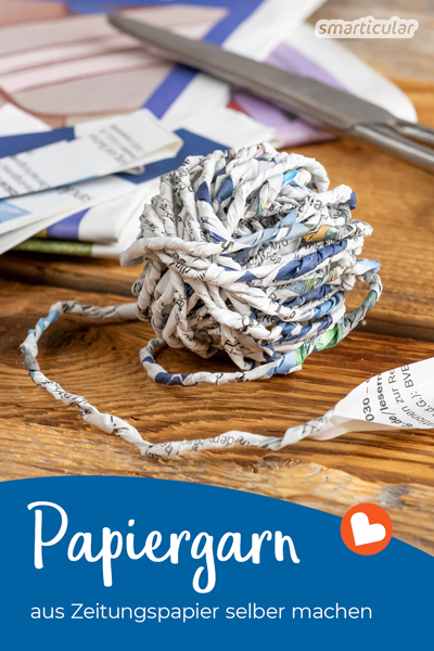 Mit dieser Anleitung kannst du Papiergarn (Paper Yarn) herstellen. Das fertige Band eignet sich als Geschenkband sowie für Vieles mehr.