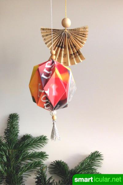 weihnachtsbaum schmuck aus papier selber falten 4 einfache anleitungen. Black Bedroom Furniture Sets. Home Design Ideas