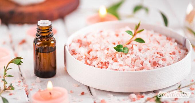 Badesalz selber machen mit wenigen natürlichen Zutaten: so einfach gelingt der pure Luxus für Körper, Geist und Seel - für dich und als Geschenk!