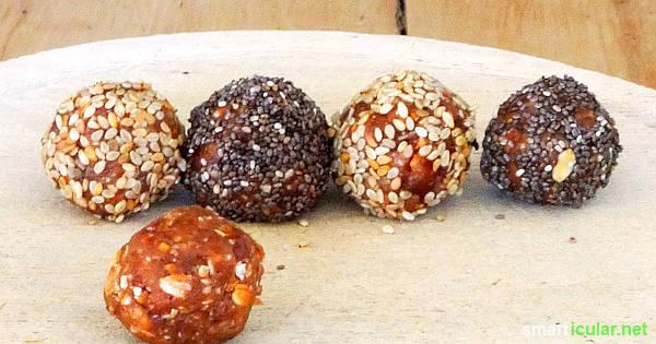 Energieschub gefällig? Diese rohköstlichen Energy-Balls aus deinen Lieblingszutaten versorgen dich mit langanhaltender Power.