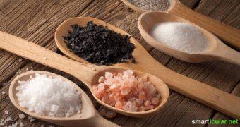 Im Handel gibt es zahlreiche Sorten von Salz mit unterschiedlichen Zusätzen und Werbeversprechen. Doch gutes Salz muss weder teuer sein, noch von ganz weit her kommen.
