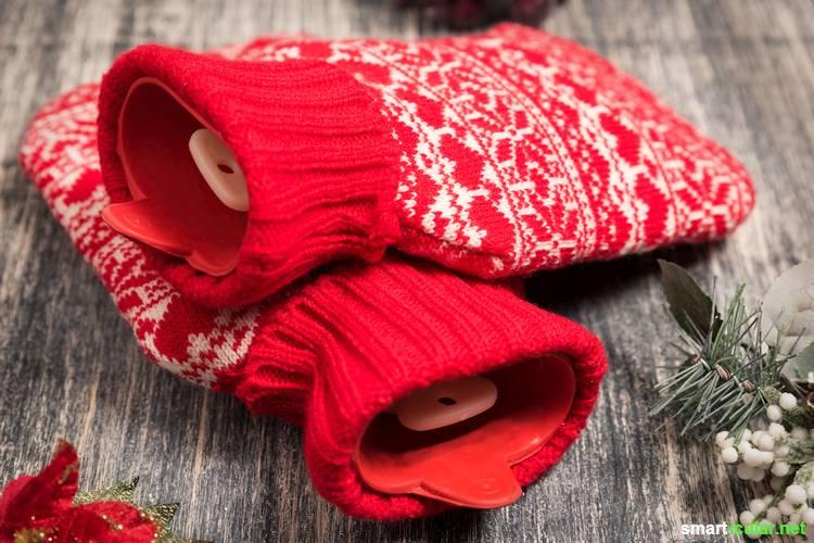 Wärmepads gibt es häufig als Werbegeschenk, gehen jedoch nach wenigen Anwendungen kaputt und werden weggeworfen. Mit diesen Hilfsmitteln wird dir schnell warm, ganz ohne den Extra-Müll.