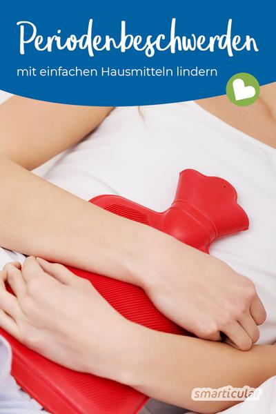 Viele Frauen bekämpfen monatlich ihre Menstruationsbeschwerden mit Medikamenten. Doch es gibt viele natürliche Hausmittel, die hier Linderung bringen.