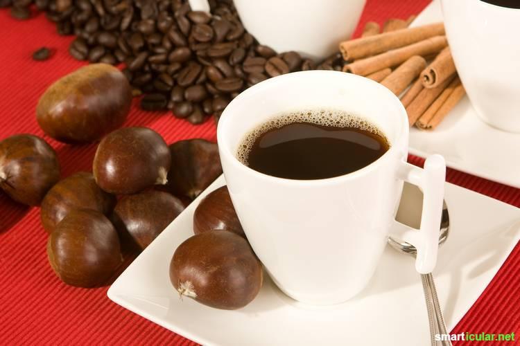 Regionale Alternativen zu Kaffee gesucht? Wir zeigen dir, wie du aus Eicheln, Kastanien und Co. ein ebenso leckeres wie gesundes Getränk herstellen kannst.