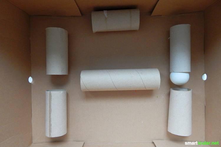 Wirf leere Toilettenpapier-Rollen nicht weg - damit lässt sich noch so Einiges anstellen. Wir zeigen dir unsere besten Ideen!