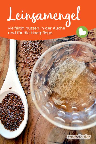 Leinsamengel lässt sich vielfältig als Ei-Ersatz, als Hair Conditioner und als Basis für veganen Eischnee nutzen und ist sehr einfach selbst zu machen.