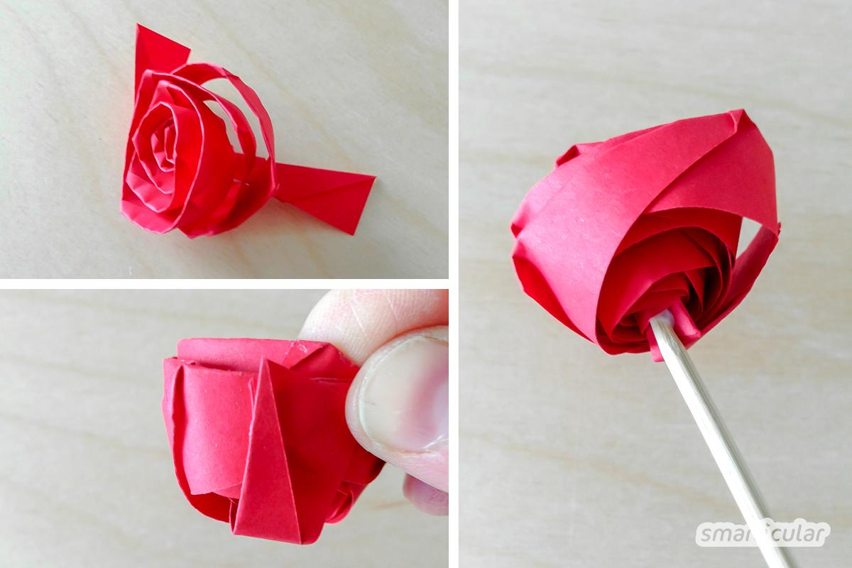 Rosen Einfach Aus Papier Falten Nachhaltig Und Langlebig