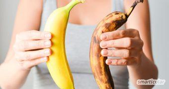 Braune Bananen verwerten statt wegwerfen! Sie sind nicht nur aromatischer, sondern enthalten auch jede Menge gesunde Inhaltsstoffe.