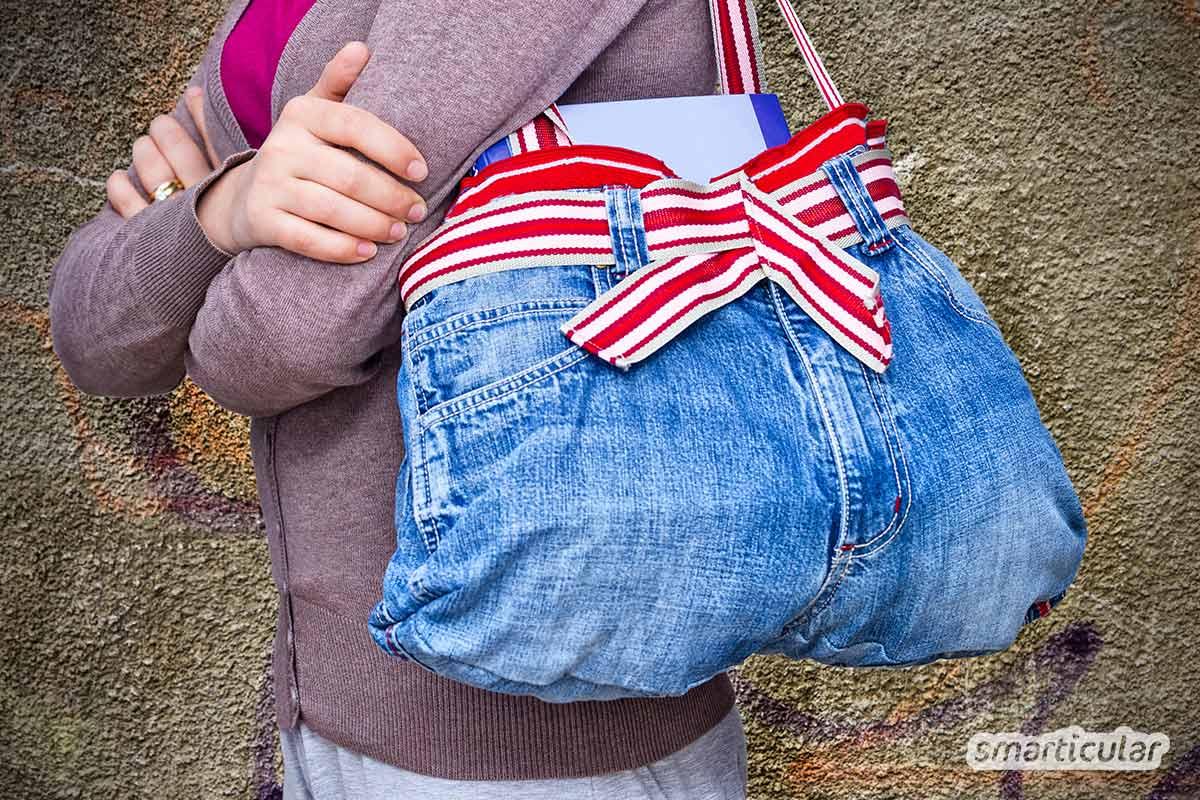 Hier findest du zahlreiche Upcycling-Ideen, mit denen sich alte Jeans kreativ verwerten lassen. Denn der stabile Stoff ist viel zu schade zum Wegwerfen!