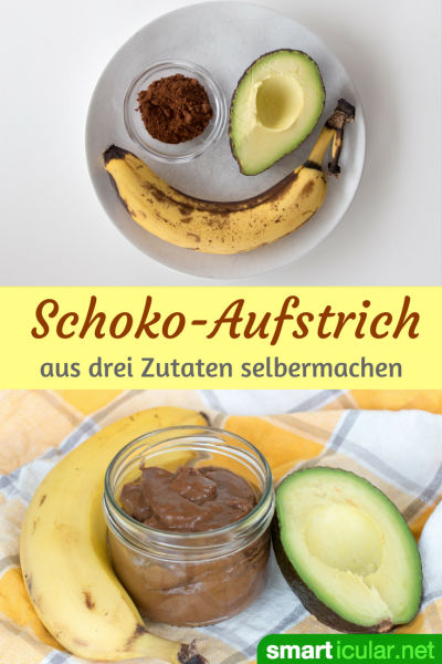 rezept f r schoko aufstrich mit avocado und banane. Black Bedroom Furniture Sets. Home Design Ideas