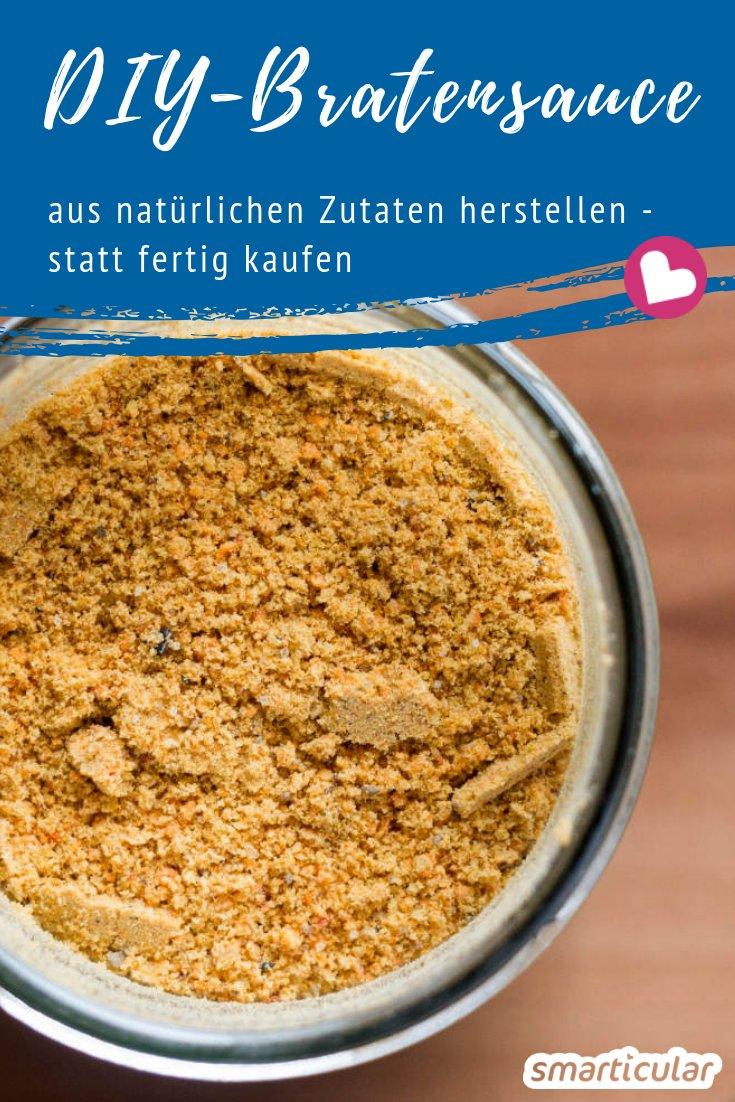 Wer braucht schon künstliche Aromen und andere Zusatzstoffe - mit diesem einfachen Rezept kannst du Einrührpulver für dunkle Soßen ganz einfach selber machen.
