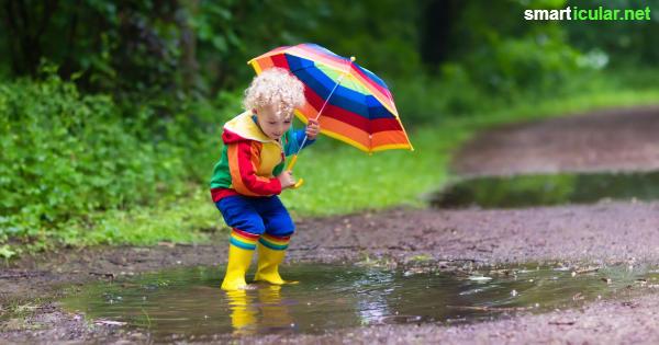 Zum Spielen muss das Wetter nicht immer schön sein. Diese Spiele machen Kindern bei Regen richtig Spaß!
