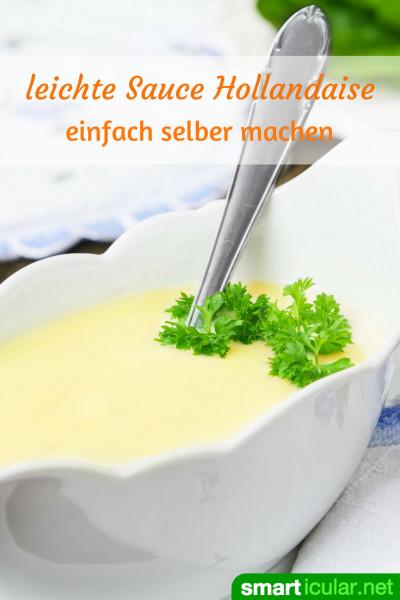 sauce hollandaise light rezept f r eine kalorienarme spargelso e. Black Bedroom Furniture Sets. Home Design Ideas