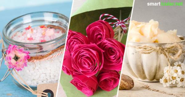 Blumen, Duschgel, Badesalz - das muss doch auch einfacher gehen! Wie du dich mit selbst gemachten Kleinigkeiten für eine herzliche Einladung bedankst, das erfährst du hier.