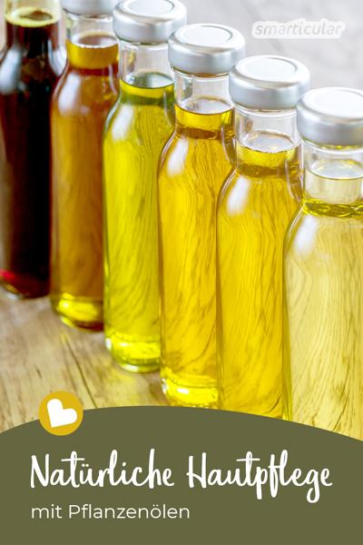 Hochwertige Pflanzenöle sind nicht nur für die Ernährung wichtig, sondern unterstützen auch die natürliche Hautpflege. Geeignete Öle für jeden Hauttyp!