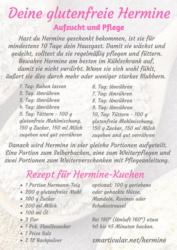 Hermann kuchen ohne ei