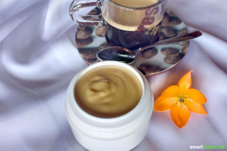 selbst gemachte creme mit koffein f r strahlende gesichtshaut. Black Bedroom Furniture Sets. Home Design Ideas