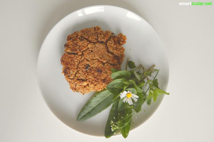Vergiss Fertigprodukte: Mit dieser selbst gemachten Fertigmischung für vegetarische Bratlinge hast du immer einen Vorrat für herzhafte Bratlinge im Haus.