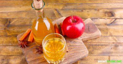 Apfelessig kann viel mehr als nur Salate zu würzen - das vielseitige Hausmittel hilft als Gesundheits-Drink bei Entzündungen, Verdauungsbeschwerden und sogar beim Abnehmen!