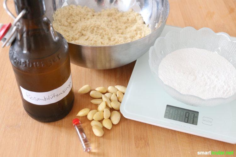 selbst gemachtes marzipan einfaches rezept f r die schnelle k che. Black Bedroom Furniture Sets. Home Design Ideas