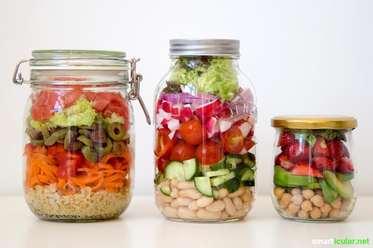 salat im glas als m llfreier vitaminreicher pausensnack f rs b ro. Black Bedroom Furniture Sets. Home Design Ideas