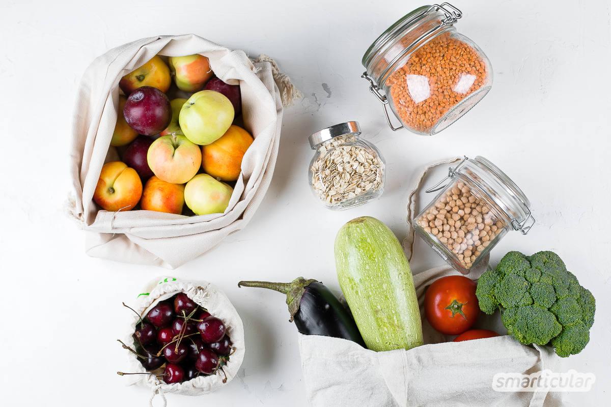 Einwegverpackungen sowie Lebensmittelreste sinnvoll nutzen oder gleich ganz vermeiden - hier findest du einfache Tipps für die nachhaltige Küche.