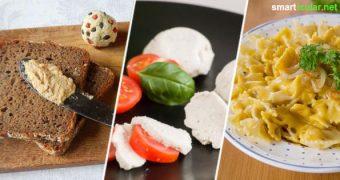 Du willst auf tierische Produkte verzichten, aber beim Käse fällt es dir besonders schwer? Jetzt nicht mehr! Mit diesen 10 pflanzlichen Alternativen fehlt dir nichts mehr in der veganen Küche.