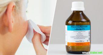 Wasserstoffperoxid (H2O2) ersetzt fast alle Spezialprodukte bei Hautproblemen: Es heilt kleine Wunden, wirkt entzündungshemmend und stillt Juckreiz.