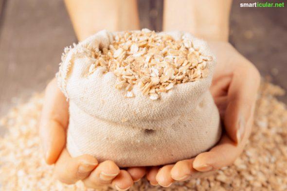 Haferflocken schmecken nicht nur gut, sie enthalten auch viele pflegende Inhaltsstoffe, die du deiner Haut zu Gute kommen lassen kannst! 5 Rezepte für die Hautpflege.