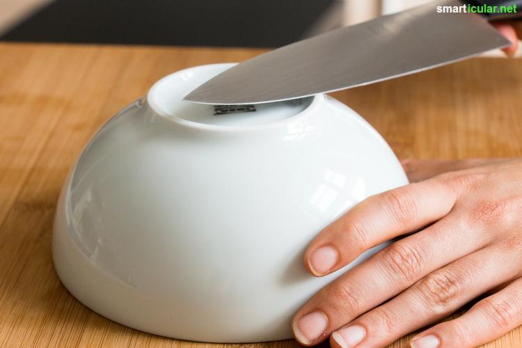 Fabulous Messer schärfen ohne Wetzstahl - Zeitung und Kaffeetasse tun es auch TJ65