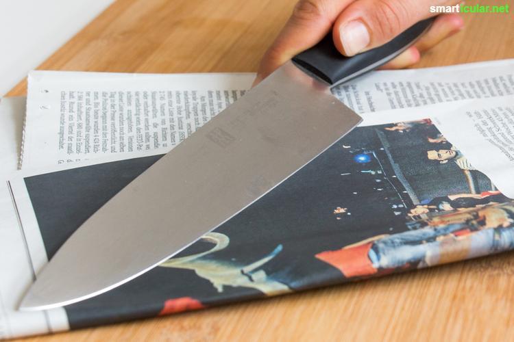 Häufig Messer schärfen ohne Wetzstahl - Zeitung und Kaffeetasse tun es auch YK51