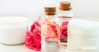 Die wunderschöne Rose verhilft auch dir zu schöner Haut. Mach dir ihre beruhigende und entzündungshemmende Heilkraft als Gesichtswasser zunutze!