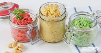 Süßlupinen sind die ideale heimische Alternative zu Soja! Mit diesem Basisrezept für herzhaften Brotaufstrich kannst du deinen Speiseplan ganz leicht mit der gesunden Hülsenfrucht bereichern.