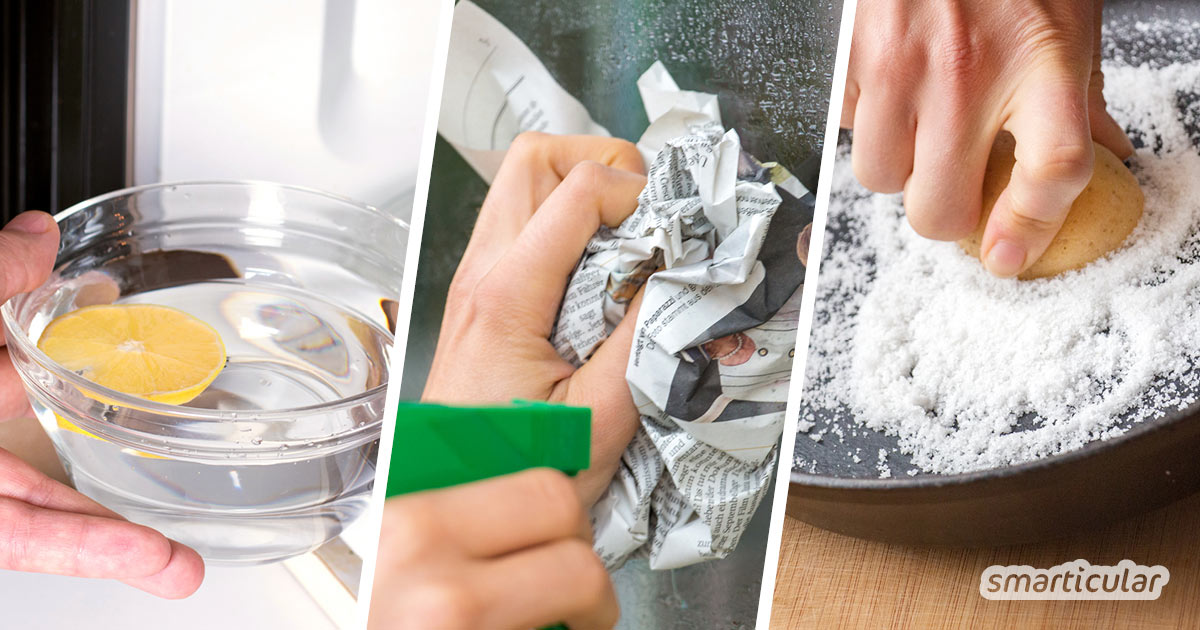 Besser putzen ohne giftige Chemie: Mit diesen Tricks und einfachen Hausmitteln geht es besser, garantiert frei von umwelt- und gesundheitsschädlichen Inhaltsstoffen.