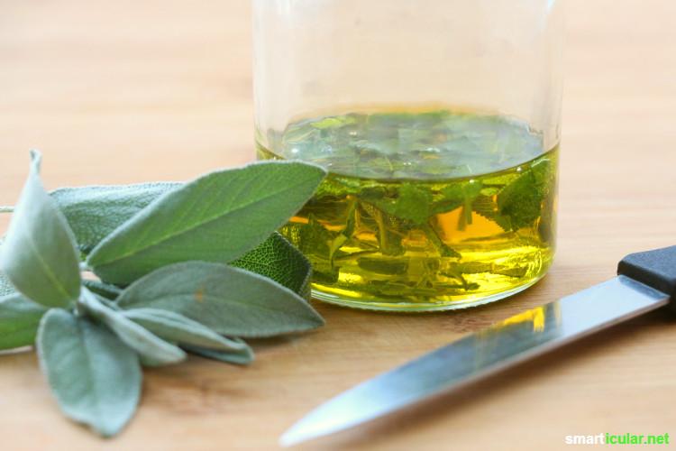 Wohin mit all dem Salbei? Mit diesen Rezepten kannst du jedes Blatt sinnvoll verwerten - zum Knabbern, als heilsamen Sirup oder zur Körperpflege.