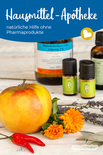 Eine alternative Hausapotheke mit Hausmitteln und natürlichen Heilmitteln ist preiswert, vielseitig und hilft bei Alltagsbeschwerden - ganz ohne Tabletten.