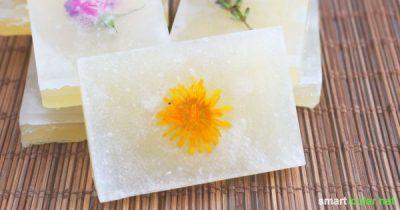 Seife selbst zu machen ist zu aufwändig und mit giftigen Dämpfen verbunden? Muss nicht sein, mit dieser Methode können sogar Kinder selbst Seife gießen.