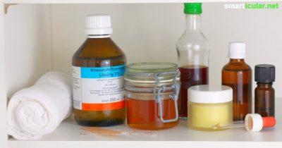 Gesünder ohne Tabletten: Das alles gehört in deine natürliche Hausapotheke, wenn du möglichst auf Pharmaprodukte verzichten möchtest.