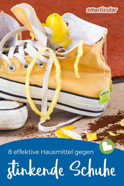 Zitrusschalen, Teebeutel und Kaffeesatz nur für die Tonne? Keineswegs! Gegen stinkende Schuhe wirken sie genauso gut wie die vier weitere Hausmittel, die du sicher schon zu Hause hast.