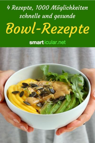 Wer aus Zeitmangel auf Fertiggerichte ausweicht, hat diese Bowl-Rezepte noch nicht entdeckt: Fünf Rezepte und tausend Möglichkeiten für die schnelle und gesunde Küche!