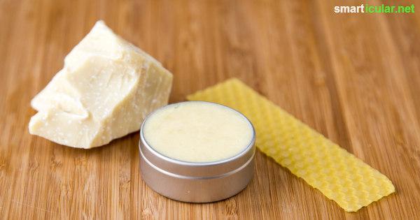 Teures Haarwachs auf Vaseline-Basis kannst du dir sparen - aus nur zwei Zutaten kannst du kinderleicht deinen eigenen natürlichen Haarfestiger herstellen.