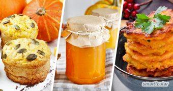 Mit diesen Kürbis-Rezepten verarbeitest du jeden Kürbis in ein abwechslungsreiches und ungewöhnliches Gericht, damit es in der Kürbissaison nie langweilig wird.
