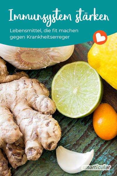 Um Erkältungen vozubeugen ist es hilfreich, das Immunsystem zu stärken - zum Beispiel mit Hagebutten, Ingwer oder Zwiebeln, die du in jedem Supermarkt erhältst oder sogar kostenlos in der Natur findest!