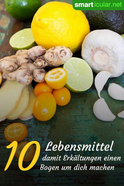 Schon wieder Erkältungszeit? Mit diesen zehn Lebensmitteln stärkst du deine Abwehrkräfte und beugst Erkältungskrankheiten vor.