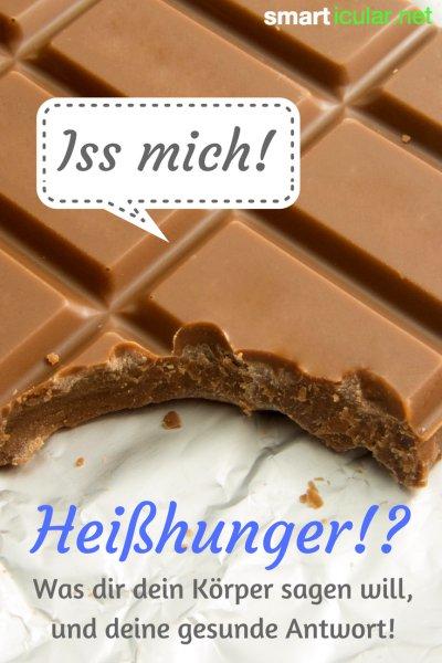 Den vehementen Drang, genau jetzt Schokolade oder Chips essen zu wollen - Wer kennt den nicht? Hier findest du gesunde Alternativen für deine Heißhungerattacken.