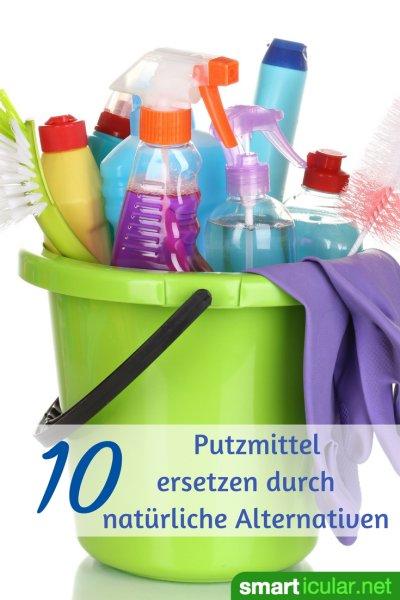 Ein Spezialmittel für jeden Putzzweck muss nicht sein, denn natürliche Hausmittel und Tricks ersetzen viele der bunten Plastikflaschen und schädlichen Inhaltsstoffe.