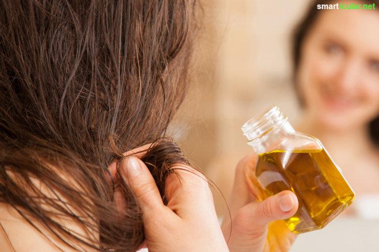 Regalreihen voller teurer Haarpflegeprodukte? Die braucht es gar nicht, wenn du nur einmal in deinen Küchenschrank schaust und diese 7 Hausmittel für strahlend schöne Haare findest!