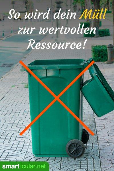 Wohin mit dem Müll? Mit diesen Tipps kannst du noch mehr Produkte und Materialien als bisher einer sinnvollen Verwertung zuführen.