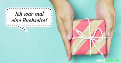 Anstatt über Weihnachten Berge von Geschenkpapiermüll anzusammeln, kannst du einfach wiederverwendbare Verpackungen basteln.